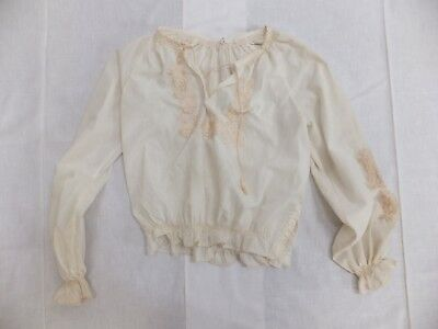 VINTAGE ETHNIC HAND EMBROIDERED PEASANT TOP BLOUSE cotton mix 15-42