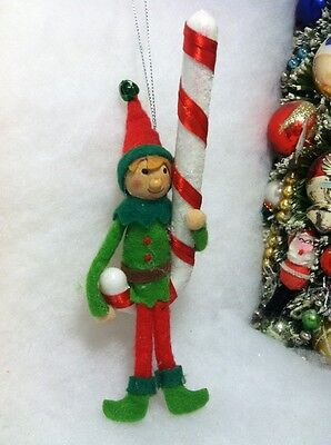 Elf candy cane Christmas tree Ornament, Felt