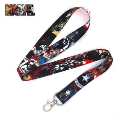 Marvel Avengers Superheroes Cell Phone Rope Chain Strap Clip Lanyard Keychain