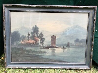 Antique Japanese Painting Circa 1890 Signed
