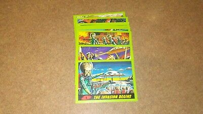 Mars Attacks 2012 Topps Heritage Green Parallel Lot (9)