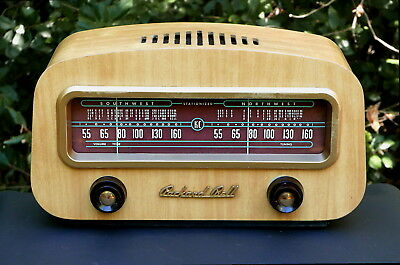 Packard Bell Model 602 Antique Wood Cabinet Tube Radio From 1949 Serviced Gem