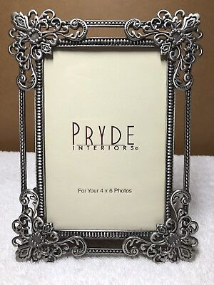 "Pewter 4x6"" Picture Frame By Pryde Interiors"