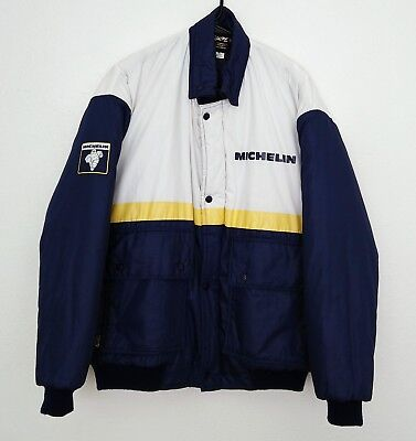 VTG MICHELIN MAN Tire Puffy Race JACKET RARE Made in NEW ZEALAND sz Large