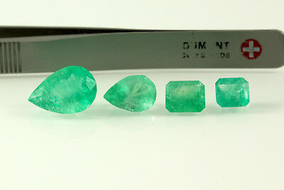11.5 Carat 4 Stone Lot Natural Colombian Emeralds Loose Gemstones No Reserve
