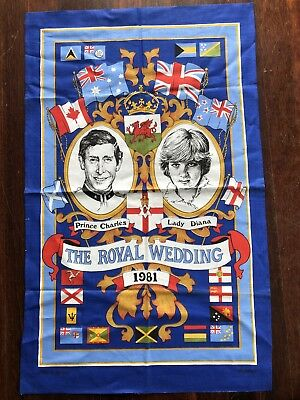 Prince Charles & Diana Wedding Tea Towel