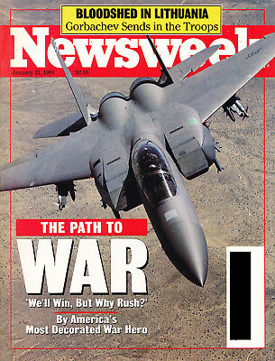 Newsweek - 1991 - Path To War + Saddam + Lithuania + Wallstreet - Excellent Cond