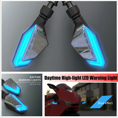 2Pcs DC12V Motorcycle LED Turn Signal Warning Lights Daytime Lamp Brightness DRL