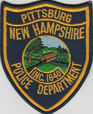 vintage Pittsburg, New Hampshire Police Dept patch  NH   covered bridge scene