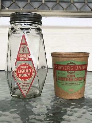 Farmers Union Adelaide Honey Jar & Cup 1940s