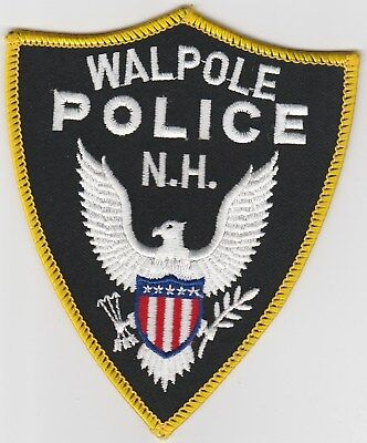vintage Walpole, New Hampshire Police Dept patch  NH   old style