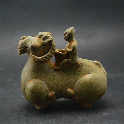 Ancient Chinese Qilin wine pot in the ancient Western Jin Dynasty Yue Kiln.