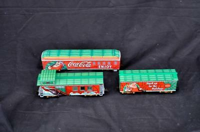 "Hawthorne Village Coca Cola ""LIGHT THE HOLIDAYS"" Train Car Set"