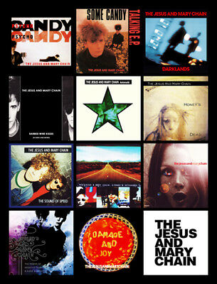 """JESUS AND MARY CHAIN album discography magnet (4.5"""" x 3.5"""") damage joy"""