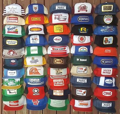 VINTAGE SNAPBACKS Lot of 50 Mesh Denim Snapback Trucker Hats