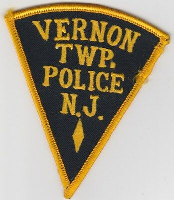 vintage Vernon Twp., New Jersey Police Dept patch  NJ   old style
