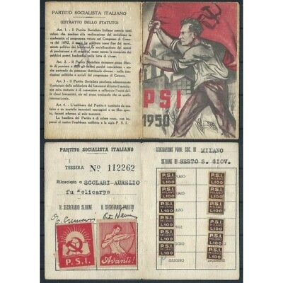CARD PSI YEAR 1950 / SOCIALIST PARTY ITALIAN / sect. 6TH MF42828