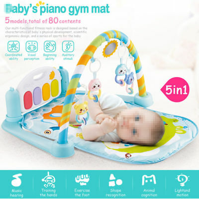 5 In 1 Multifunctional Baby Infant Activity Gym Play Mat Musical W/Hanging Toys