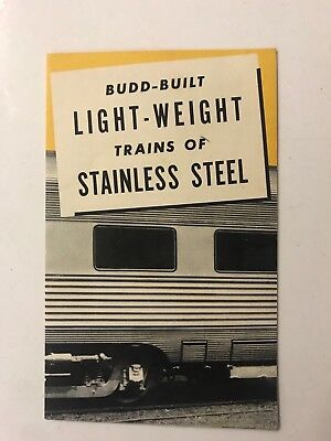 1966 Budd Vintage Railroad Rare Train Brochure