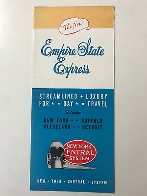 Empire State Express New York Central System Vintage Railroad Train Brochure