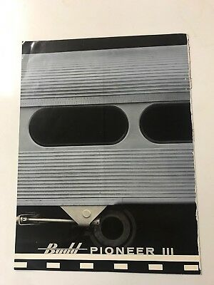 Budd Pioneer Iii Vintage Railroad Rare Train Brochure