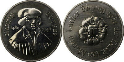 DDR Medaille 1983 - Lutherrose - Rose Luther - ca.40mm - Ehrung Martin Luther
