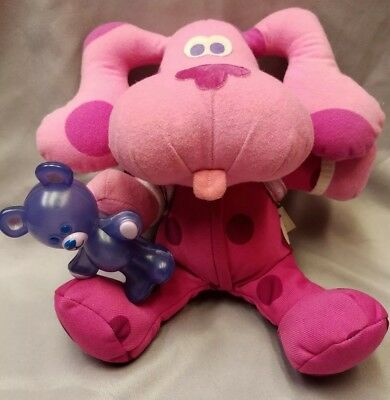 Blues Clues Bedtime Magenta With Sleeping Bag And Light Up Bear
