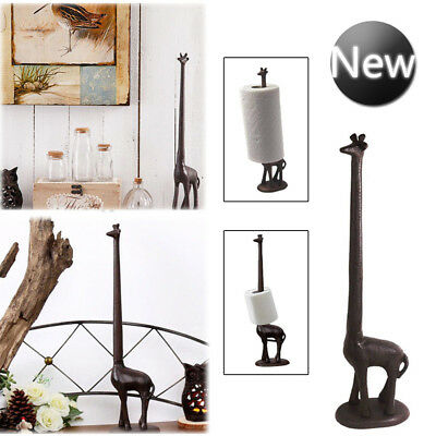 Cast Iron Giraffe Bathroom Toilet Tissue Roll Paper Holder Kitchen Home Decor UK