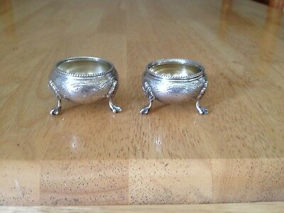 Victorian Silver Edward Charles Brown 1874 2 Salts