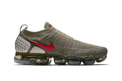 Nike Air VaporMax Moc 2 Neutral Olive Habanero Red Size 9. AH7006-200 90 95 98
