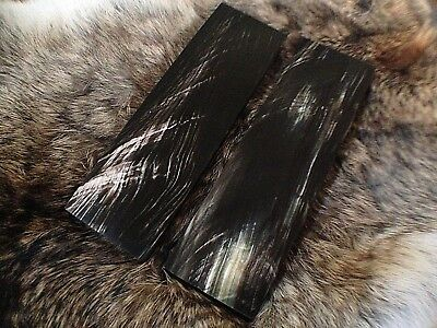 Buffalo Horn Knife Handle Blank Scales 130mmx40mmx8mm 1 pair