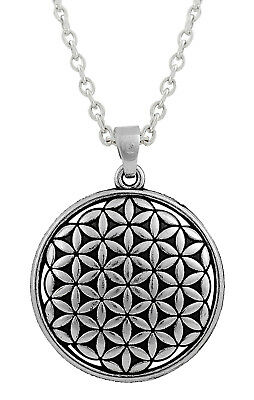 Flower of Life Link Chain Necklace Ancient Egyptian Symbol Pendant Necklace