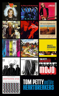 "TOM PETTY & THE HEARTBREAKERS album discography magnet (4.5"" x 3.5"")"