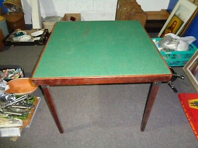 vintage card table legs fold up well made poker cards toys etc