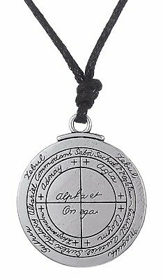 Double Sided Magical The Lesser Key of Solomon Pendant Necklace Vintage Jewelry