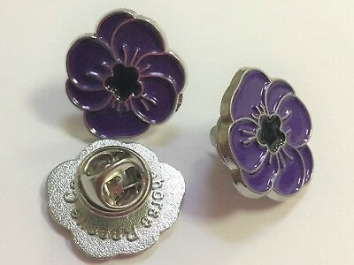 Purple Poppy badge 100%  goes direct to Reg eBay Charity Shelter in UK