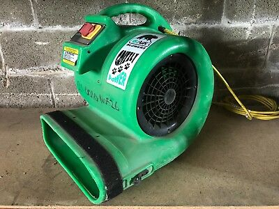 B-Air Grizzly GP-1 1 HP CFM Air Grizzly Mover Carpet Dryer Floor Fan