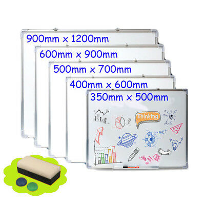 Office School Home Magnetic Whiteboard Dry Wipe Drawing Sign Board Various Size
