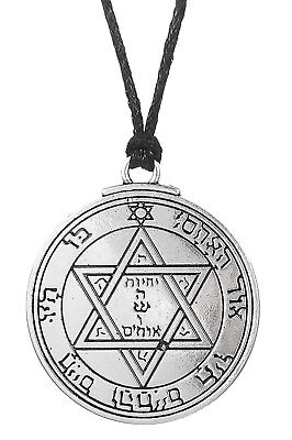 Pentacle of Mars, Key of Solomon Pendant Necklace, Double-Sided Magical Jewelry