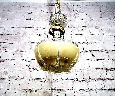 Antique Vintage Chandelier Pendant Art Deco Glass Petite 1 Light Fixture