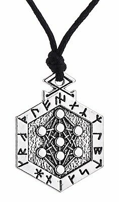 Runes Armanen Tree of Life Pendant Necklace, Kabbalah Yggdrasil Vintage Jewelry