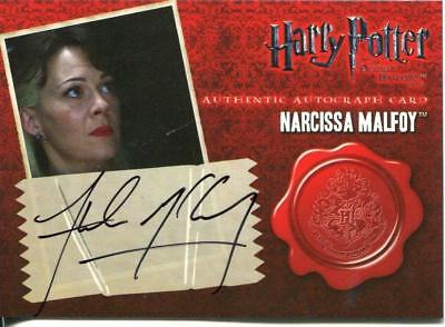 Narcissa Malfoy Helen McCrory Trading Card Autograph Harry Potter Peaky Blinders