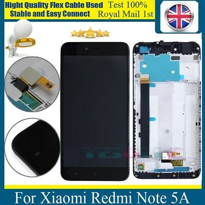 For Xiaomi Redmi Note 5A Replacement LCD Touch Screen Assembly Frame Black
