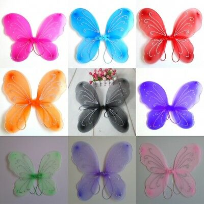 Kids Toddler Girl Butterfly Wings Fairy Fancy Party Princess Dress Party Costume