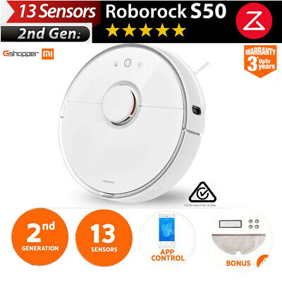 Xiaomi Mi Roborock S50 Robot Vacuum Cleaner 2nd Gen Au Version