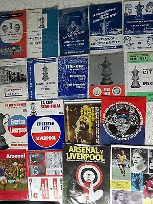Fa  Cup Semi Final Programmes 1950 To 1980 ~ You Choose Year
