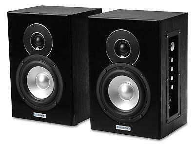 2x ENCEINTE MONITEUR STUDIO ENREGISTREMENT ACTIVE BLUETOOTH MP3 USB AUX SD 160W