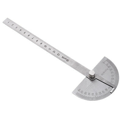Steel 180 Degrees Rotary Swing Arm Protractor for Student School Woodworking