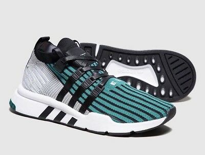 newest 43d7f 6f1a3 Adidas Eqt Support Mid Advance Black White Green Mens Shoes Us8.5 Deadstock  New