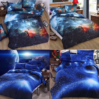 3D Bedding Sky Bed Set Outer Space Double  Duvet Cover Winter Warm 200*300cm